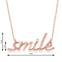 Smile Pendant Necklace 14k Rose Gold