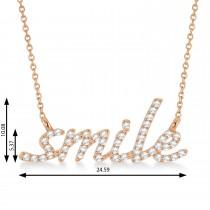 Diamond Smile Pendant Necklace 14k Rose Gold (0.25ct)