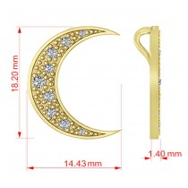 Diamond Crescent Moon Pendant Necklace 14K Yellow Gold (0.15ct)