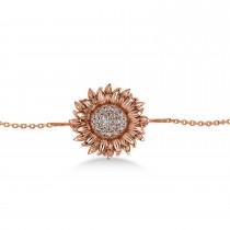 Sunflower Diamond Anklet 14k Rose Gold (0.19ct)
