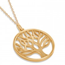 Family Tree of Life Pendant Necklace 14k Rose Gold