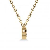 Bezel-set Five-Stone Diamond Pendant Necklace 14k Yellow Gold (0.25ct)