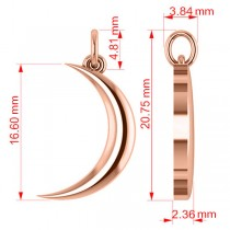 Crescent Moon Pendant Necklace 14K Rose Gold