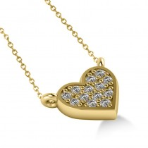 Diamond Heart Pendant Necklace 14k Yellow Gold (0.13ct)
