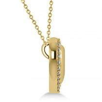 Puffed Heart Diamond Pendant Necklace 14k Yellow Gold (0.26ct)|escape