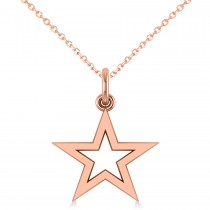 Star Shaped Pendant Necklace 14k Rose Gold