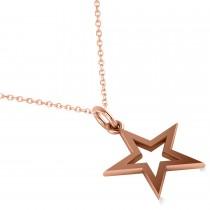 Star Shaped Pendant Necklace 14k Rose Gold