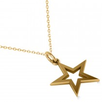 Star Shaped Pendant Necklace 14k Yellow Gold