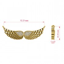 Diamond Angel Wings Pendant Necklace 14k Yellow Gold (0.11ct)