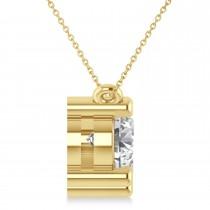 Three Stone Diamond Pendant Necklace 14k Yellow Gold (3.00ct)