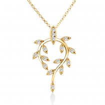 Diamond Vine Pendant 14k Yellow Gold (0.24ct)