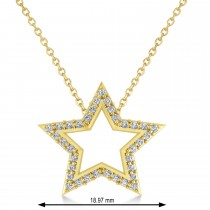 Galaxy Star Diamond Accented Pendant 14k Yellow Gold (0.35ct)