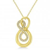Diamond Double Infinity Pendant 14k Yellow Gold (0.14 ctw)