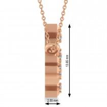 Diamond Aries Zodiac Constellation Star Necklace 14k Rose Gold (0.07ct)