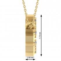 Diamond Leo Zodiac Constellation Star Necklace 14k Yellow Gold (0.10ct)