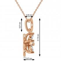 Diamond Double Layered 5-Petal Necklace 14k Rose Gold (1.00ct)