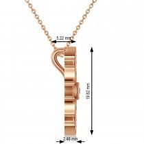 Diamond & Diamond Snowflake Necklace 14k Rose Gold (0.29ct)