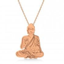 Buddha Spirituality Pendant Necklace 14k Rose Gold