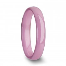 Coral Domed Pink Ceramic Ring (4MM)