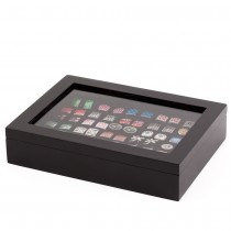 Thirty-six Cufflinks Storage Box Lacquered Wood