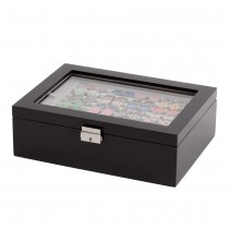 Seventy-two Pair Double Layer Cufflink Case Black