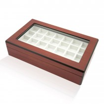 Fifty-eight Double Walnut Cufflinks Storage Box|escape
