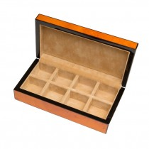 Eight Cufflinks Storage Box Lacquered Wood Finish