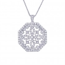 1.75ct 14k White Gold Diamond Pendant Necklace