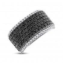 2.60ct 14k White Gold Black & White Diamond Pave Ring