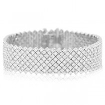 12.55ct 18k White Gold Diamond Lady's Bracelet