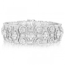 20.14ct 18k White Gold Diamond Lady's Bracelet