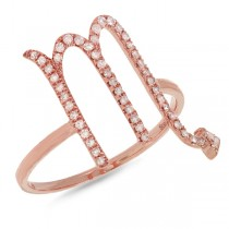 0.21ct 14k Rose Gold Diamond Zodiac Scorpio Ring