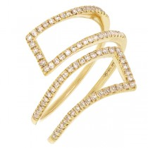 0.24ct 14k Yellow Gold Diamond Lady's Ring