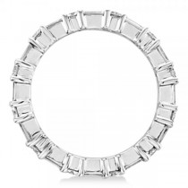 Round & Baguette Cut Diamond Eternity Band 14k White Gold (1.50ct)