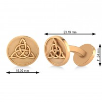 Men's Celtic Knot Cufflinks 14k Rose Gold
