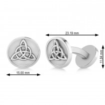 Men's Celtic Knot Cufflinks 14k White Gold