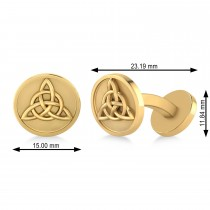 Men's Celtic Knot Cufflinks 14k Yellow Gold
