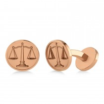 Scales of Justice Cuff Links 14k Rose Gold
