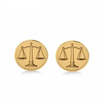 Scales of Justice Cuff Links 14k Yellow Gold