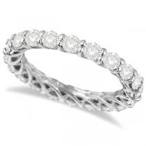 Custom-Made Luxury Diamond Eternity Anniversary Ring Band 18k White Gold (2.00ct)