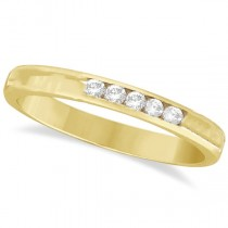 Custom-Made Channel-Set Diamond Ring Band in 18k Yellow Gold (0.33ct)