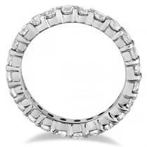 Custom-Made Diamond and Blue Sapphire Eternity Ring Wedding Band 14k White Gold (2.50ct)