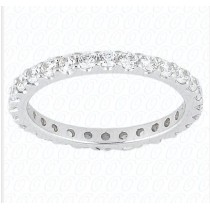 Custom-Made Ruby Eternity Band Stackable Ring 14K White Gold