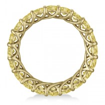 Custom-Made Fancy Yellow Canary Diamond Eternity Ring Band 14k Yellow Gold (5.00ct)