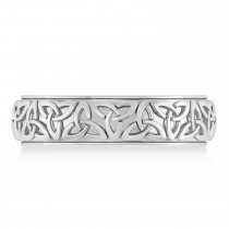 Custom-Made Celtic Knot Eternity Band 14k Two Tone Gold