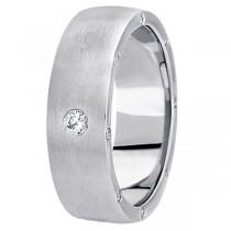 Men's Diamond Wedding Band in 18k White Gold (0.34 ctw)