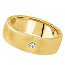 Men's Diamond Wedding Band in 18k Yellow Gold (0.34 ctw)