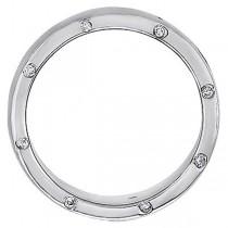 Men's Burnished Diamond Wedding Band in Platinum (0.34 ctw)