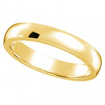 Dome Comfort Fit Wedding Ring Band 14k Yellow Gold (2mm)