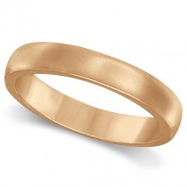 Dome Comfort Fit Wedding Ring Band 18k Rose Gold (2mm)